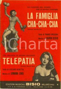 1960 SPECCHIA-BISIO La famiglia cha-cha-cha Luciano BERETTA Telepatia *Spartito