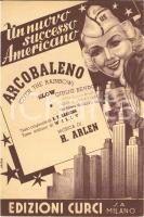 1939 OVER THE RAINBOW Arcobaleno Willy - Harold ARLEN *Spartito