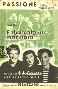 1940 Astro MARI Eldo DI LAZZARO Spartito PASSIONE Doris DURANTI