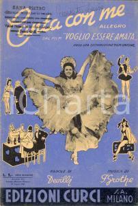 1940 Spartito Devilli Franz GROTHE *Canta con me ILLUSTRATO