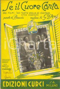 1944 Alfredo BRACCHI Giovanni D'ANZI Se il cuore canta SPARTITO AUTENTICO