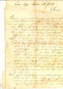 1870 MAZZO RHO (MI) Supplica Angelo PAPETTA per scuola equitazione