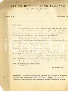 1945 PRI MILANO Per aiutare il lavoro di propaganda
