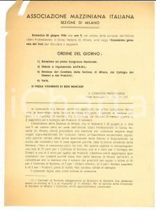 1946 ASSOCIAZIONE MAZZINIANA MILANO Assemblea generale dei soci