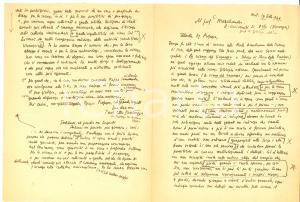 1949 MILANO Paolo Ettore SANTANGELO a Carl MARSTRANDER Autografo