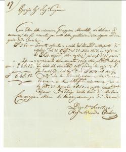 1850 MILANO Alessandro OMBONI tutore minorenne Giuseppina MOSCATELLI