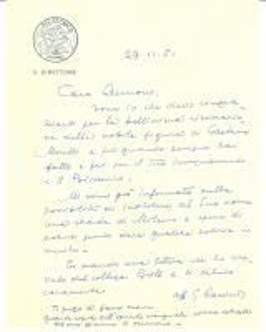 1951 MILANO Gino CASSINIS s'impegna per una via a Gaetano MORETTI Autogr.