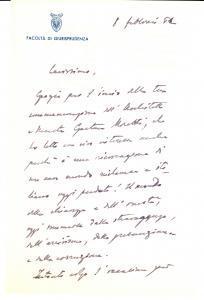 1952 MILANO Pietro DE FRANCISCI su Gaetano MORETTI Autografo