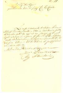 1849 MILANO Vitalizio per minorenne Giuseppina MOSCATELLI