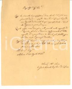 1846 MILANO Giuseppe CONSOLE DALL'ARMI dona quadro a Basilica SAN LORENZO