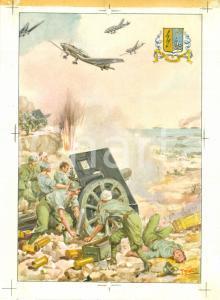 1950 33° REGGIMENTO ARTIGLIERIA Prova stampa illustrata *Cartolina