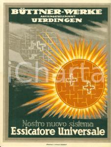 1950 ca UERDINGEN (DE) Essicatore universale BUTTNER Illustrato