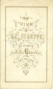 1880 ca MODENA Santino Società Litoleografica SAN GIUSEPPE