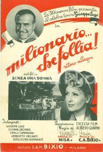 1943 NISA Cesare Andrea BIXIO Milionario che follia! SPARTITO