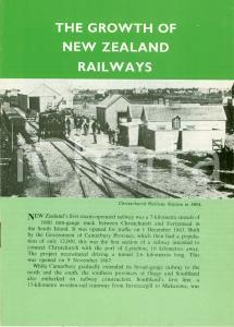 1975 NUOVA ZELANDA Growth of NEW ZEALAND Railways ILLUSTRATO Opuscolo