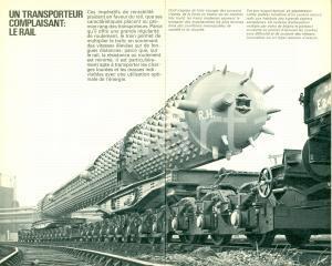 1975 ca SVIZZERA Trains nouveaux marchandises modernes ILLUSTRATO