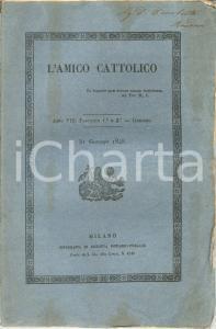 1848 L'AMICO CATTOLICO Moti risorgimentali in Europa *Rivista