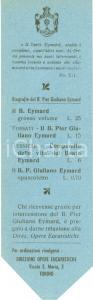 1950 ca TORINO Segnalibro di SAN PIER GIULIANO EYMARD