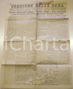 1918 CORRIERE DELLA SERA Resa degli austriaci a DIAZ