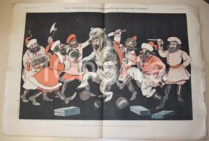 1895 Giornale IL FISCHIETTO Pranzo politico SAVIGLIANO