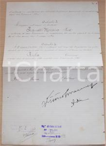 1924 ROMA Autografi VITTORIO EMANUELE III Armando DIAZ