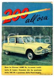 1961 200 ALL'ORA La nuova Citroen AMI 6 illustrato