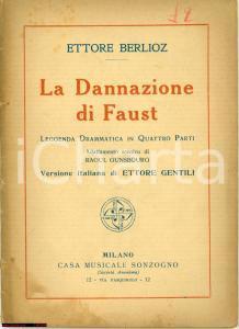 1920 ca Ettore BERLIOZ La dannazione di FAUST libretto