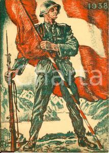 1938 SVIZZERA Dichiarazione di neutralità ILLUSTRATA