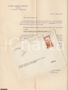 1953 ROMA Cesare MARZIOLI editore promuove opera di Francesco PICCOLO *AUTOGRAFO