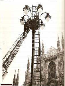 1939 Milano vecchia - lampione Duomo Madonnina *Foto