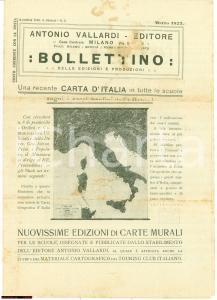 1923 Bollettino Antonio VALLARDI Nuovi confini d'Italia