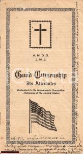 1923 LOS ANGELES Valori cittadino cattolico CITIZENSHIP