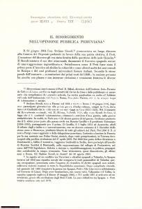 1960 Risorgimento opinione pubblica Perù RAOUL GUEZE