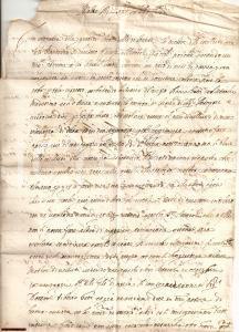 1647 CASTIGLION FIORENTINO Mostra di velluti per FUCINI