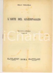 1926 Nello TOSCANELLI L'arte del giardinaggio
