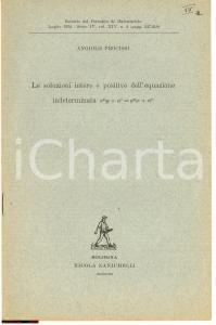 1934 ANGIOLO PROCISSI Equazione intederminata LIBRETTO