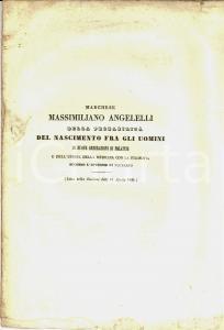 1846 Massimiliano ANGELELLI Nascimento nuove malattie