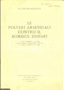 1931 Ettore MALENOTTI Polveri contro il bombice dispari
