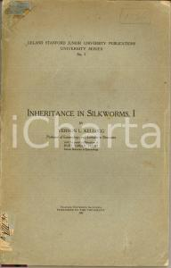1908 Vernon Kellogg INHERITANCE IN SILKWORMS Bachi seta