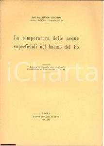 1938 MARCO VISENTINI Temperatura delle acque del PO