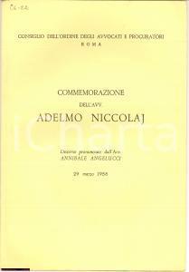 1958 ANNIBALE ANGELUCCI In morte di ADELMO NICCOLAJ