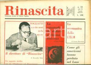1971 RINASCITA Luca PAVOLINI La catastrofe del dollaro si chiama INDOCINA