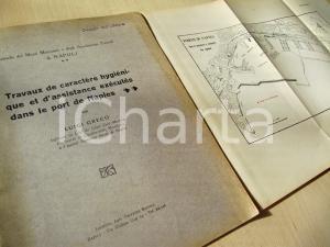 1932 NAPOLI Luigi GRECOTravaux de caractere hygiéniqu dans le port + TAVOLA