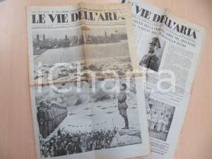 1934 LE VIE DELL'ARIA Primo anniversario CROCIERA AEREA Numero speciale POSTER