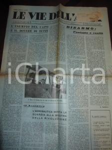 1933 LE VIE DELL'ARIA Esempio del DUCE per gli aviatori italiani *Giornale