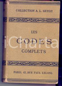 1900 ca PARIS Collection A. L. GUYOT Les codes complets