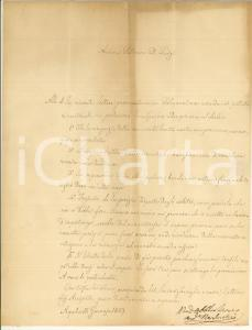 1859 L'AQUILA Andrea NARDECCHI lavora per importante perizia *Prefilatelica