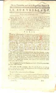 1798 LE SURVEILLANT Gazette REVOLUTION 24 Therm. Rivolte nella Rep. CISALPINA