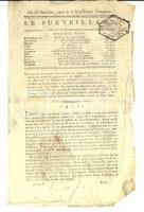 1798 LE SURVEILLANT Gazette REVOLUTION Arresto conte di ROCHECOTTE VANDEA