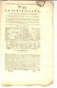1798 LE SURVEILLANT Gazette REVOLUTION n° 45 Preti che rifiutano il giuramento